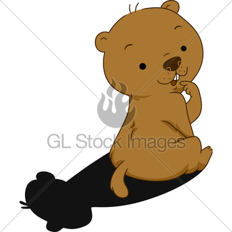 325x325 Cartoon Groundhog Shadow Gl Stock Images