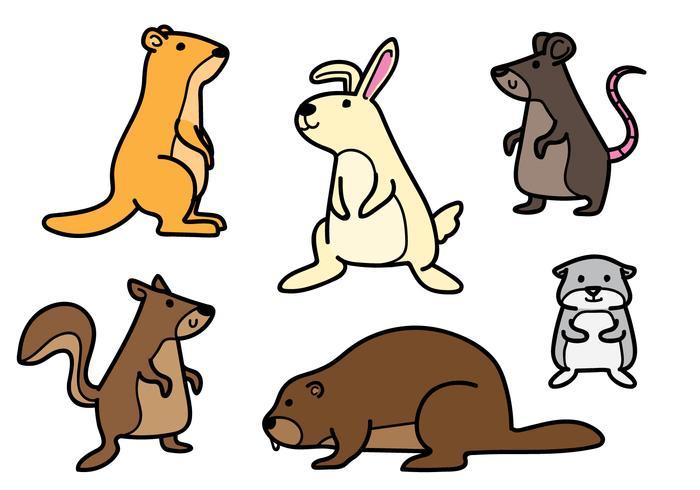 700x490 Rodent Cartoon Set