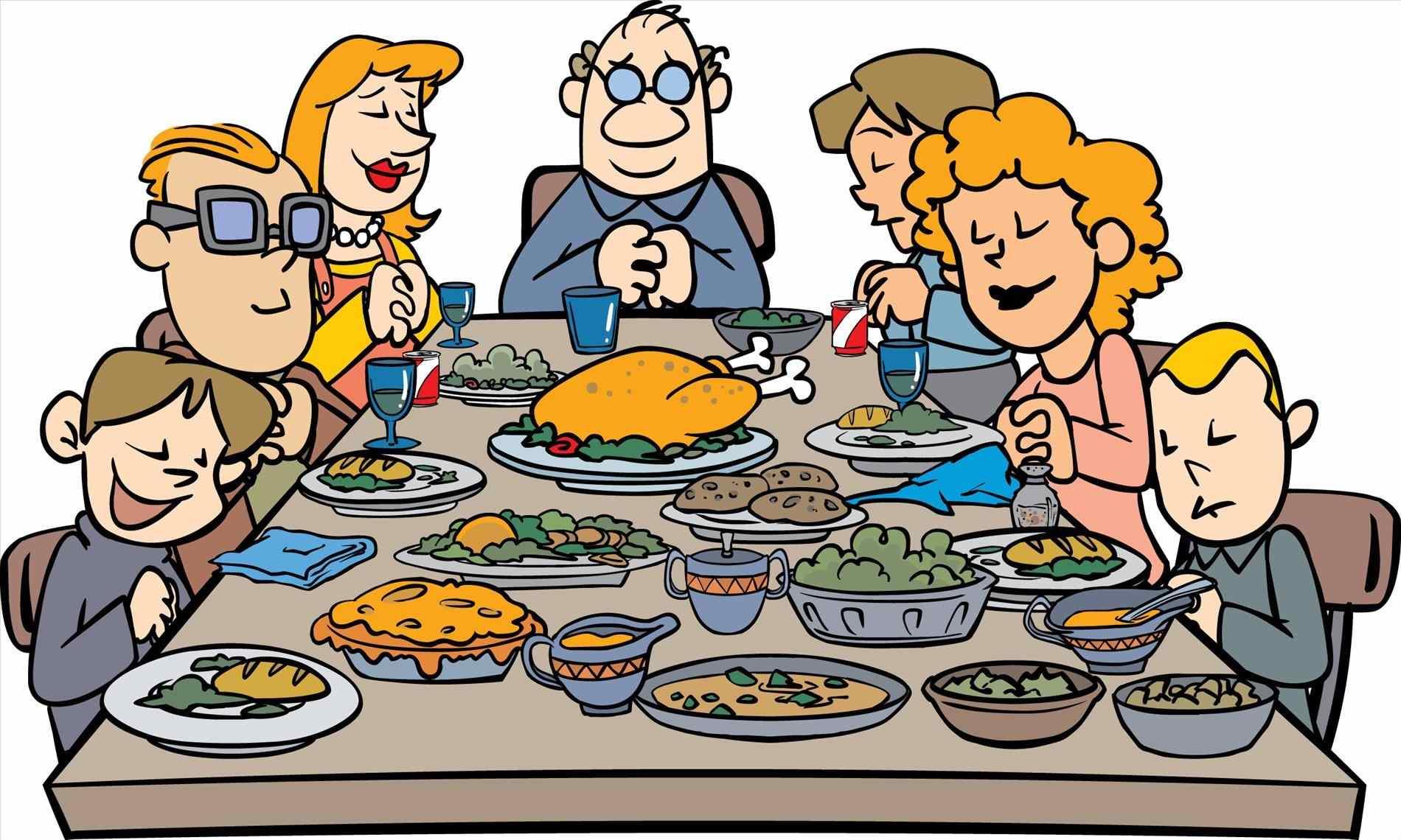 1900x1140 Family Christmas Dinner Clipart