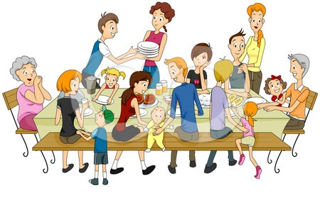450x282 Family Eating Clipart