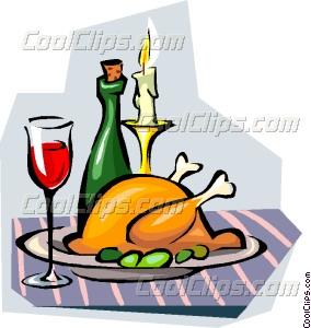 284x300 Candle Light Dinner Vector Clip Art