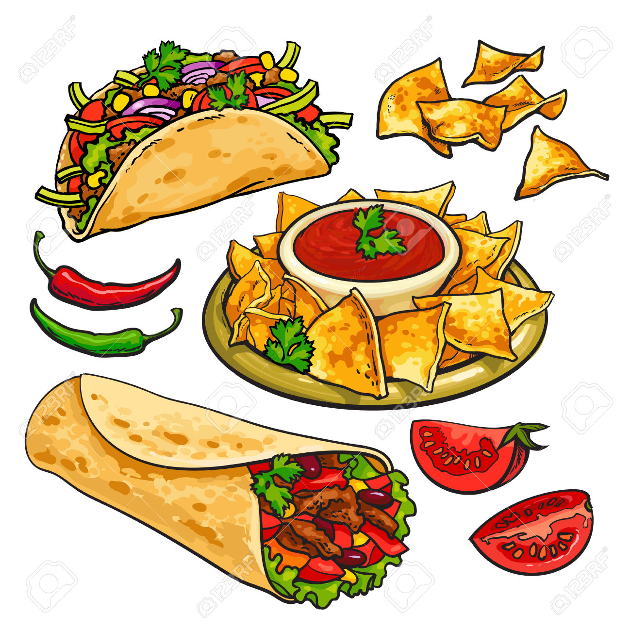 1300x1300 Chile Clipart Mexican Dinner