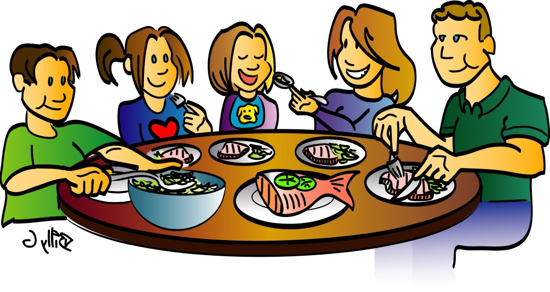 1123x596 Diner Clipart Family Discussion