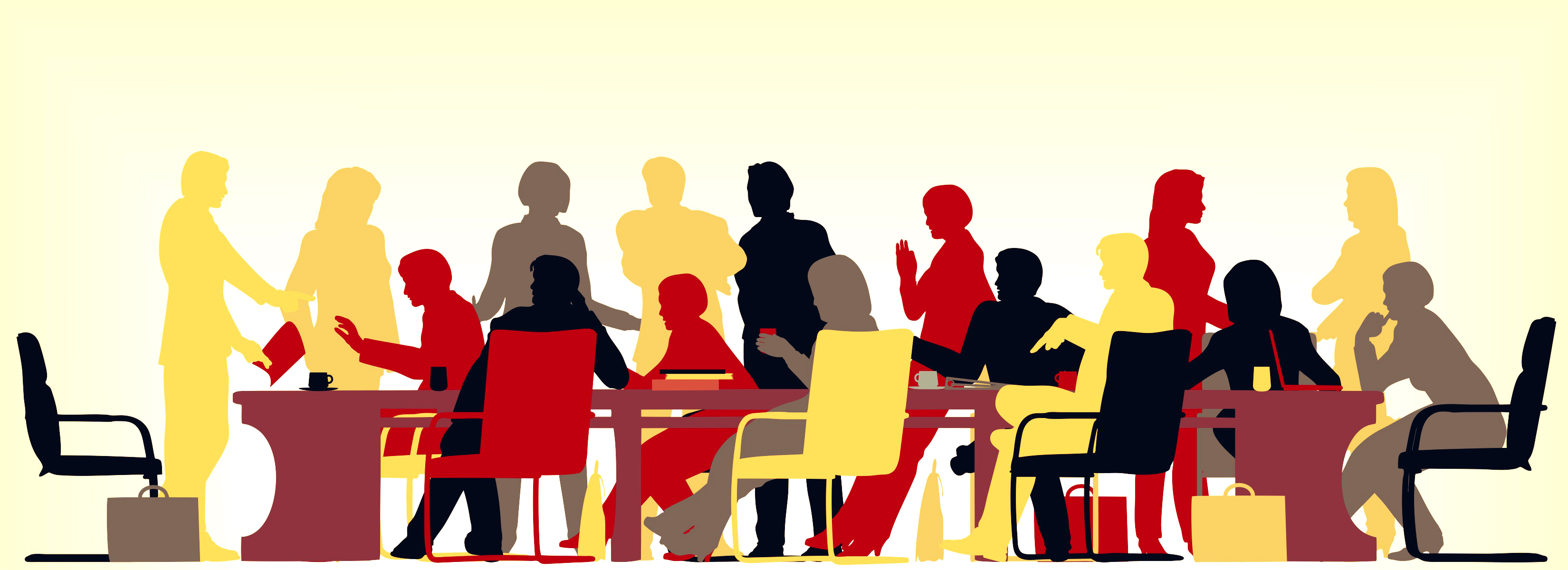 3300x1200 Meetings Clipart