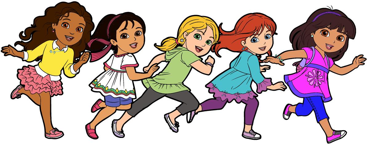 1196x473 Dora And Friends Clipart Images Cartoon Clip Art