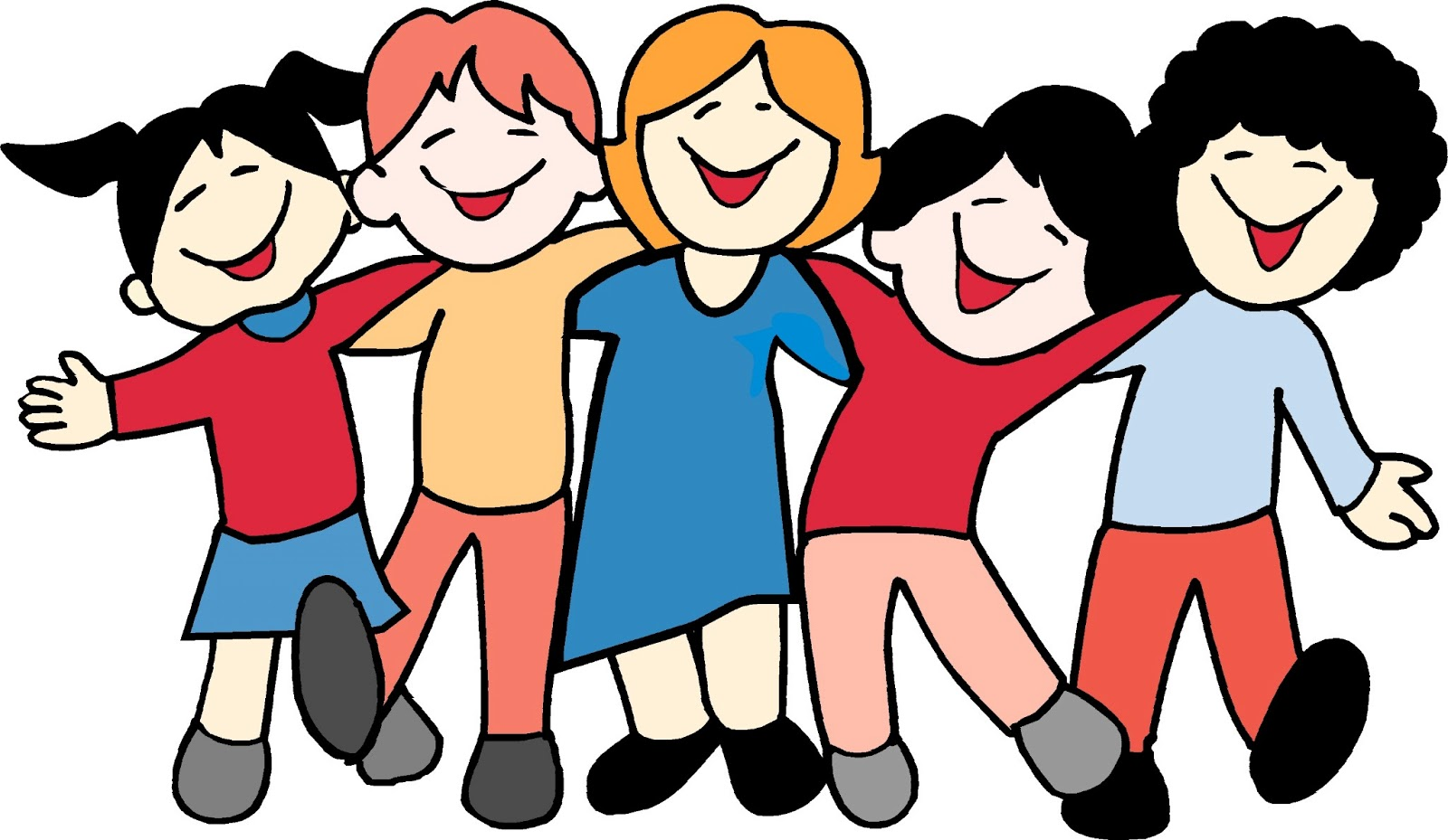 1600x929 Group Of Friends Clipart