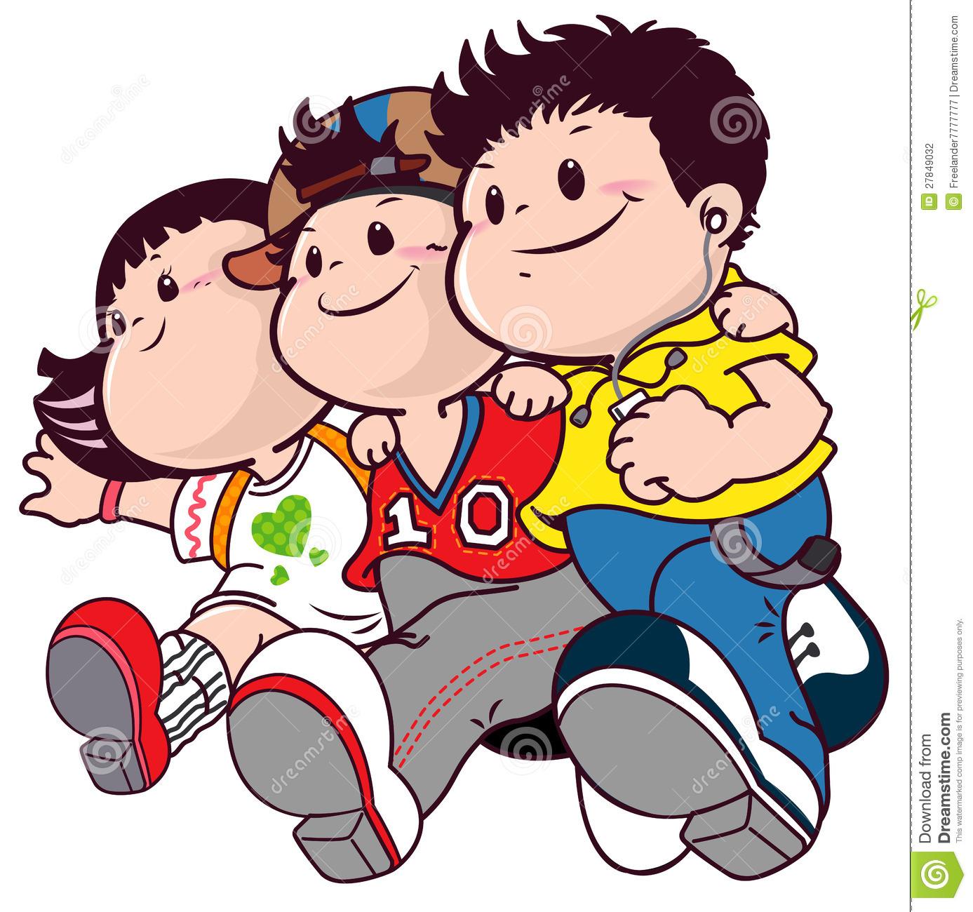 1387x1300 Cartoon Friends Clipart