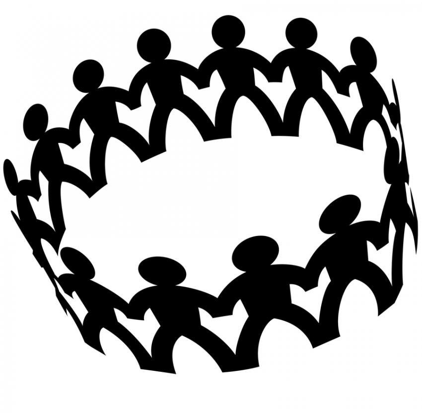850x833 Circle Of Friends Clipart