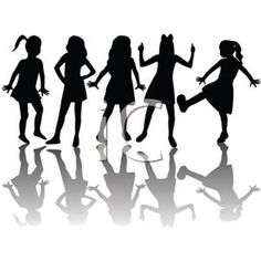 236x236 Group Girls Clipart
