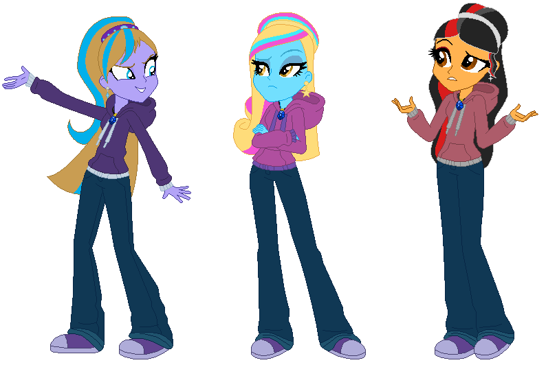 810x535 Equestria Girls My Dazzlings Group In Disguise By Wynterstar93