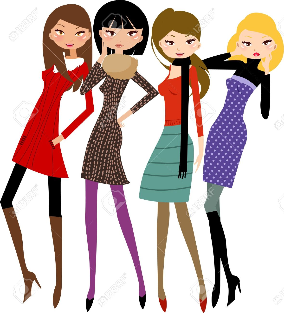 1180x1300 Fashion Clipart Group Woman