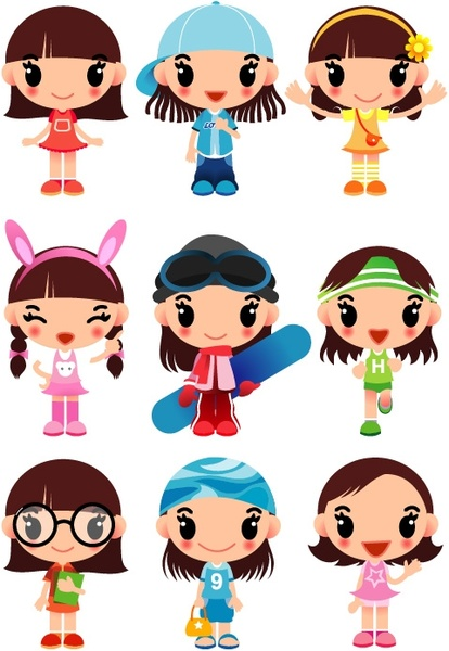 414x600 Girl Free Vector Download (2,985 Free Vector) For Commercial Use