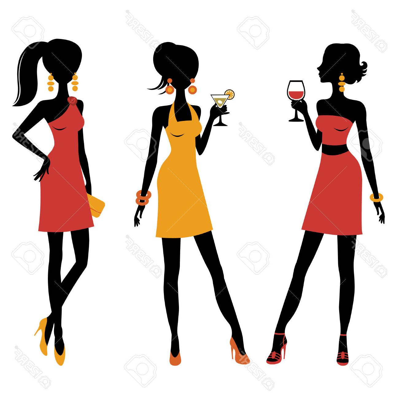 Group Of Girls Clipart
