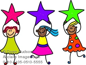 300x227 Image Of A Group Of Happy Little Girls Holding Stars