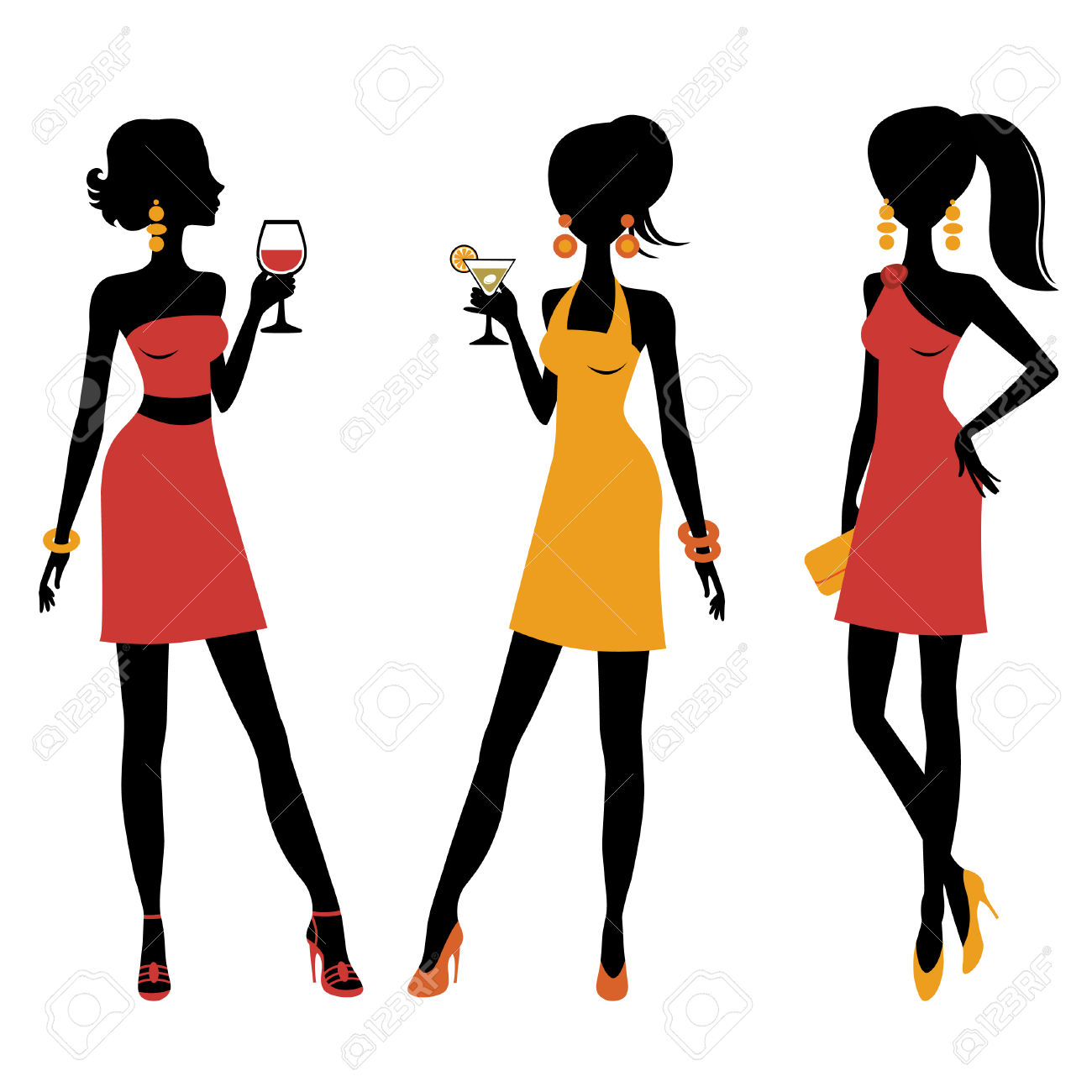 1300x1300 Ladies Cocktail Clipart