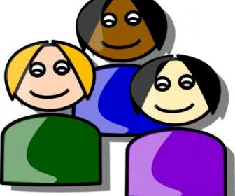 336x280 Multiethnic Girls Clip Art Vector People Free Vector Free Download