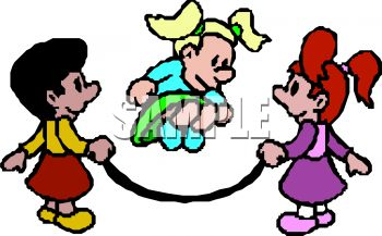 350x217 Royalty Free Clipart Image Girls Jumping Rope