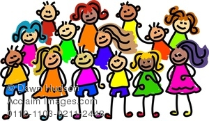 300x174 Of Happy Little Boys And Girls Clipart Image