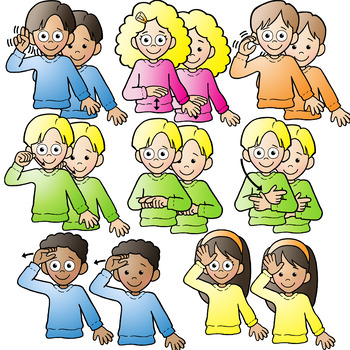 350x350 American Sign Language Kids Signing Family Words Clipart Clip Art