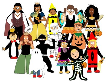 350x270 Kids With Costumes Clipart