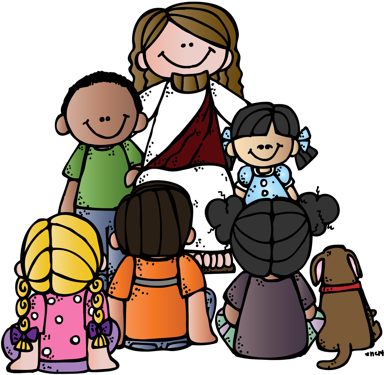 1600x1562 Top 84 Jesus Children Clip Art