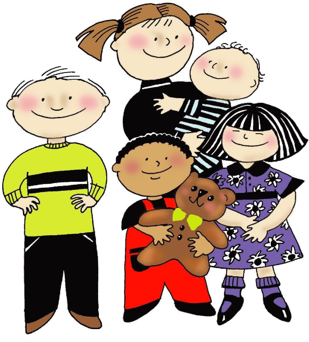 1245x1377 Children Group Of Kids Clipart Free Clipart Images