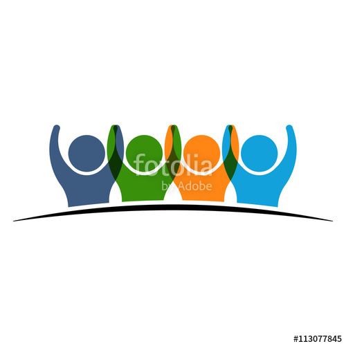 500x500 Group Of People Winners Logo People Icon Graphics