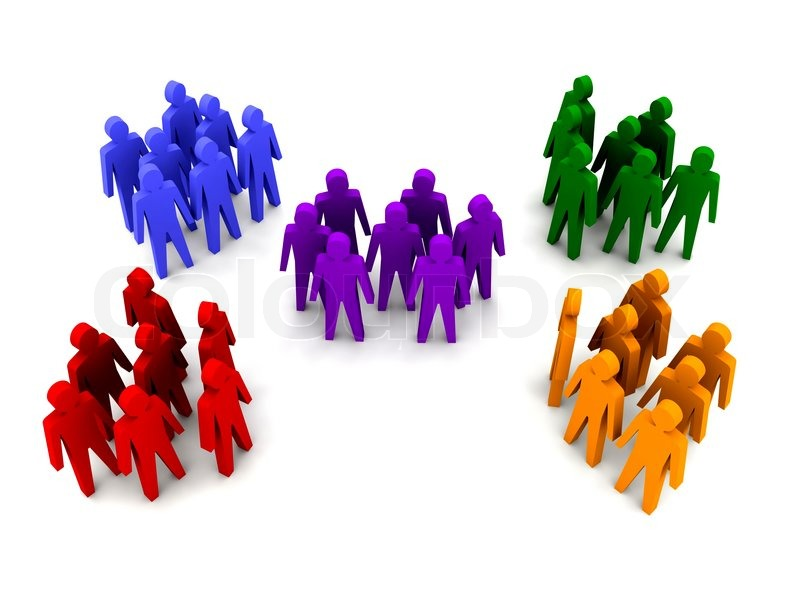 800x600 Different Groups Of People. Concept 3d Illustration Stock Photo