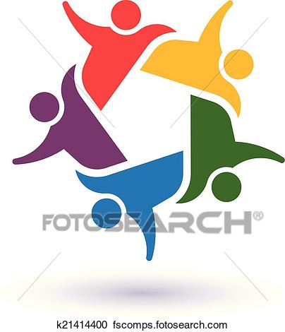 404x470 Clipart Of Team 5 Committee.concept Group Of People United, Social