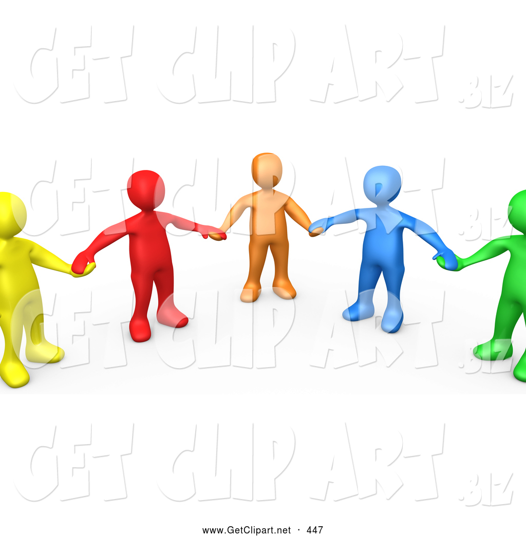 1024x1044 3d Clip Art Of A Supportive Group Of Colorful And Diverse People