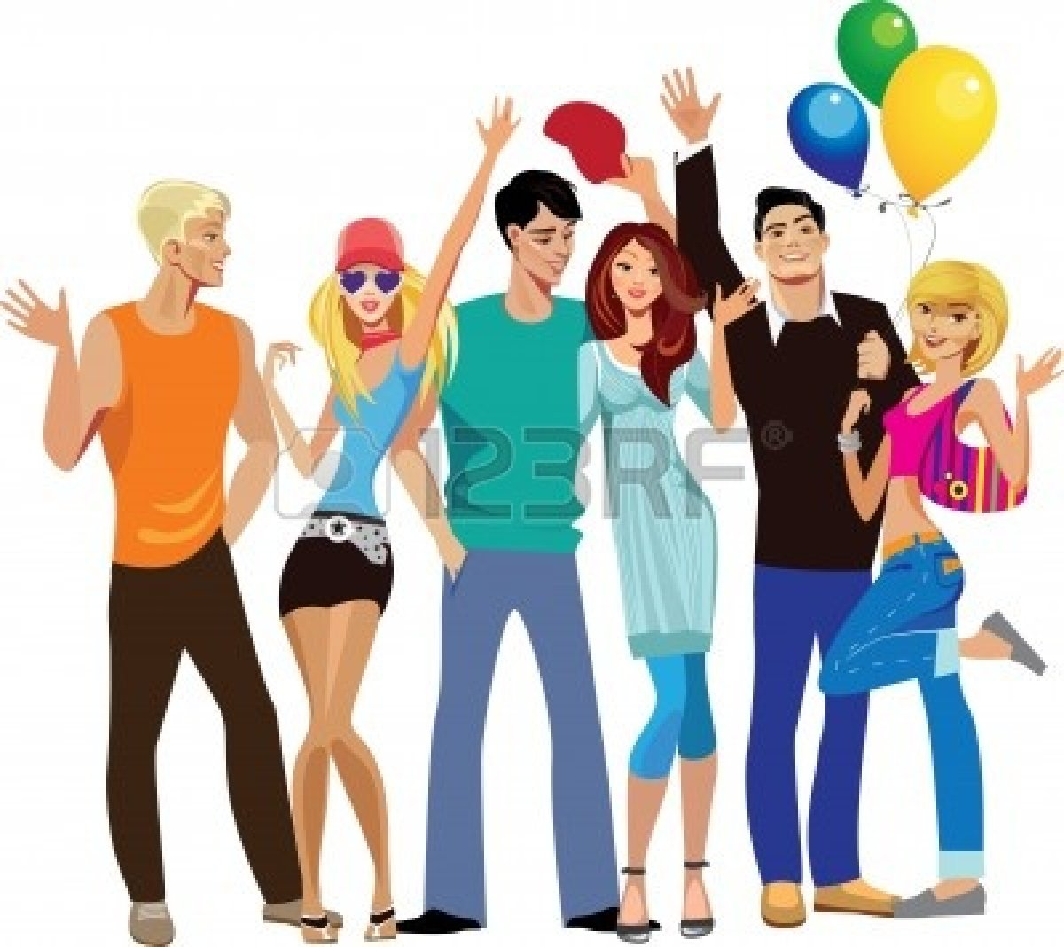 1200x1068 Happy Group Of Friends Clipart