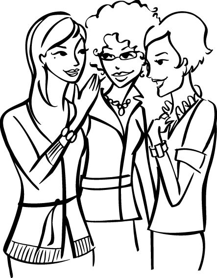 443x568 Clipart Of A Woman Speaking To A Group Of Ladies