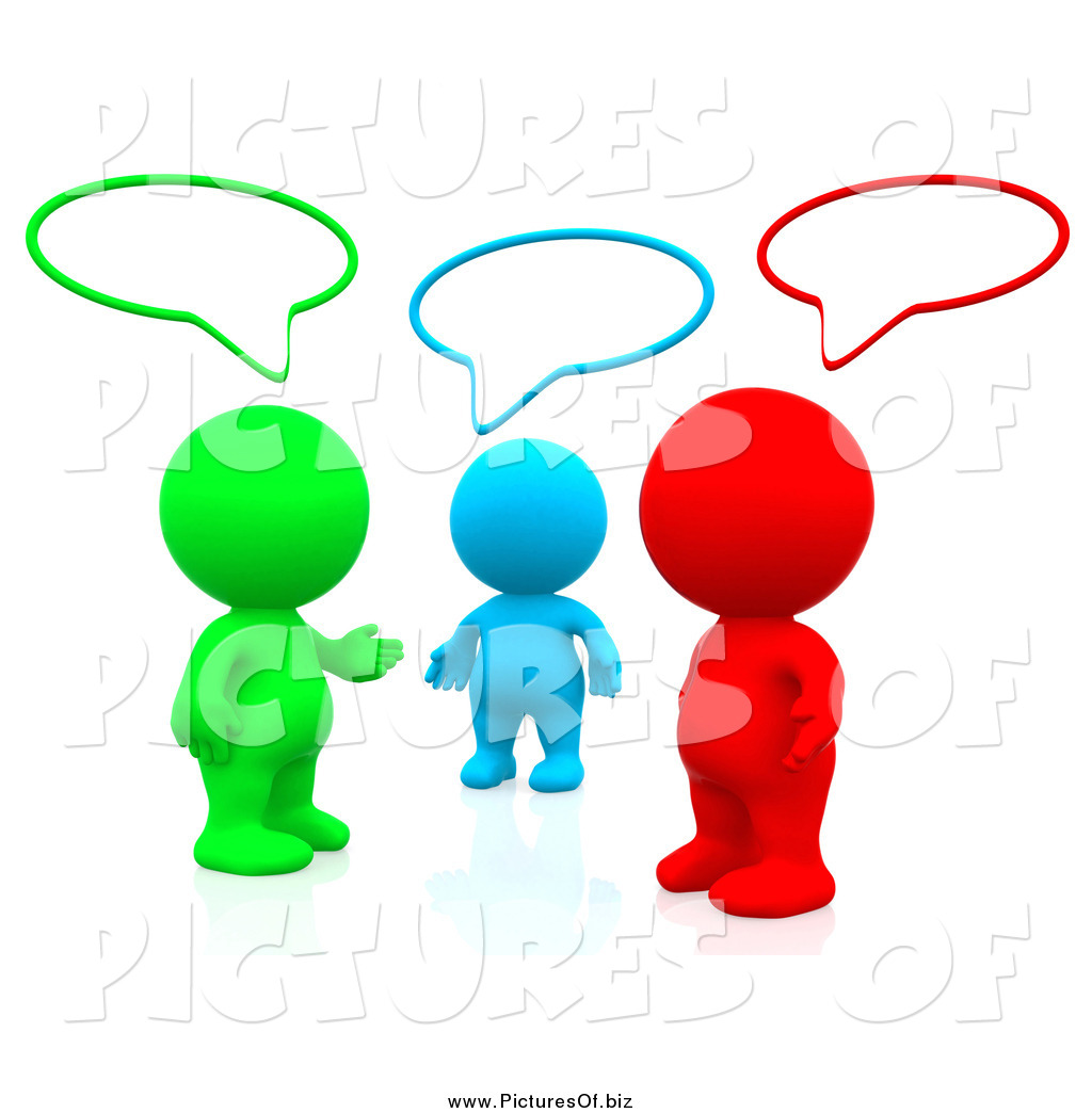 1024x1044 Clipart Of 3d Colorful People Talking In A Social Network Group By