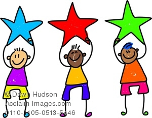 300x232 Image Of A Group Of Happy Little Boys Holding Stars
