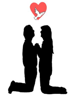304x396 Couples Praying Together Linda Schubert
