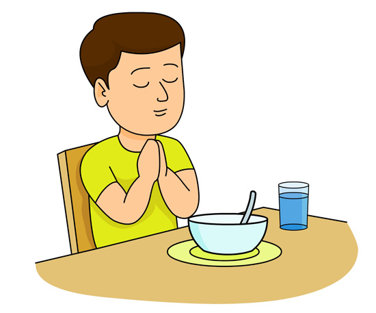 550x457 Child Praying Clipart