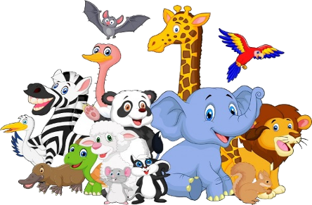 444x292 Animal Groups Clipart