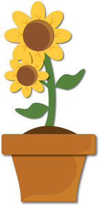 146x300 Flowerpot Clipart Image