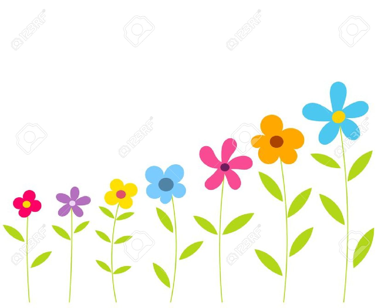 1300x1052 Wildflower Clipart Flower Growing