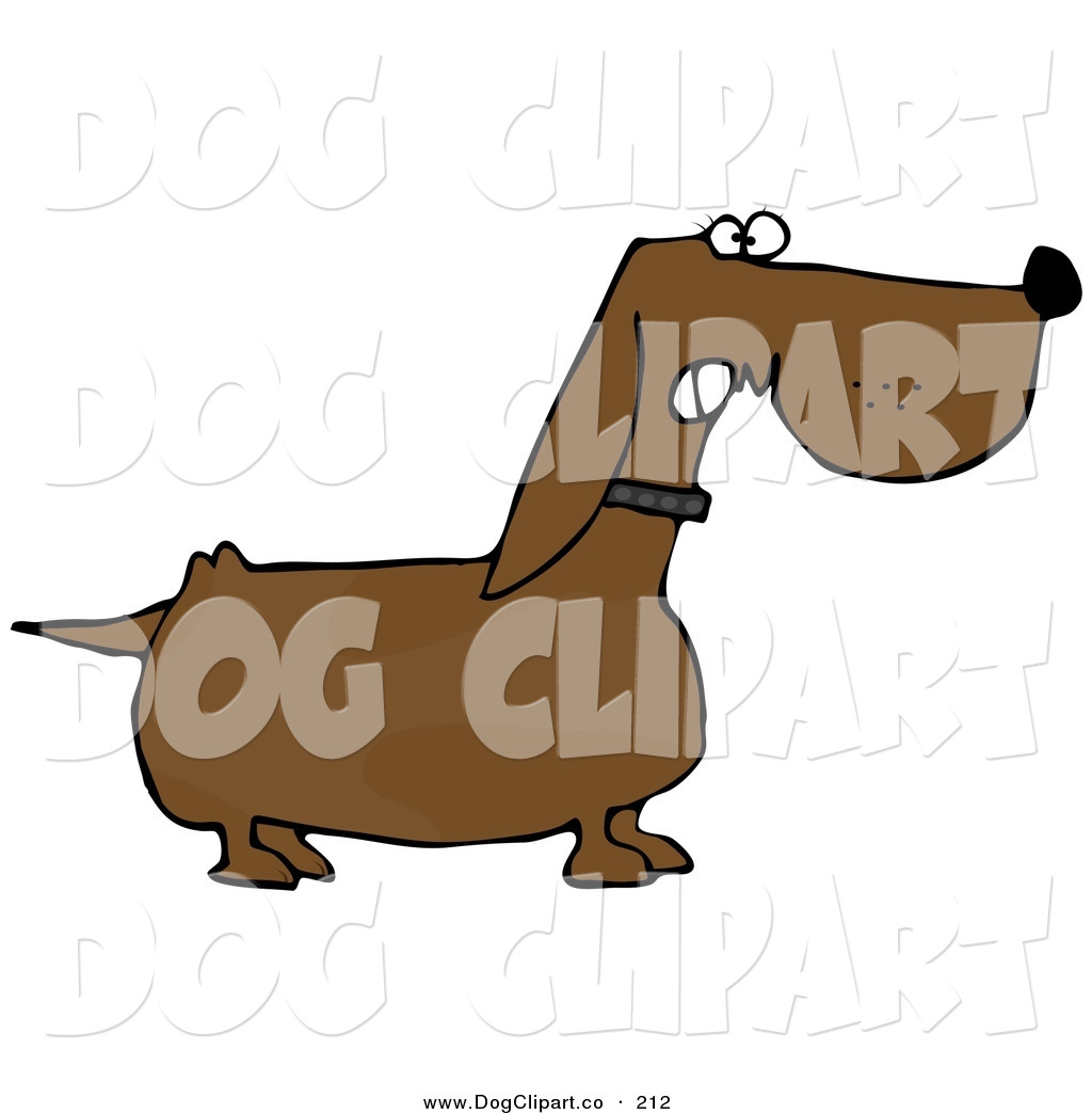 1024x1044 Clip Art Of A Mean Aggressive Wiener Dog Growling