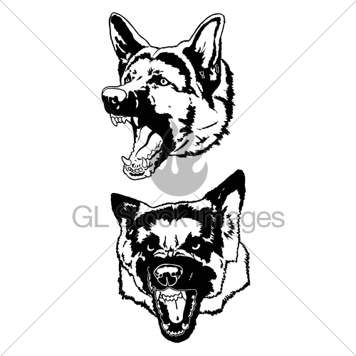 500x500 Graphics For Growling Dog Vector Graphics