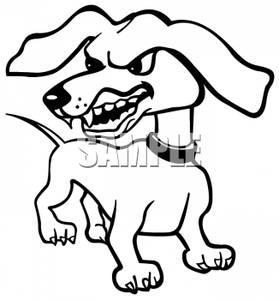 279x300 Growling Dog Clipart