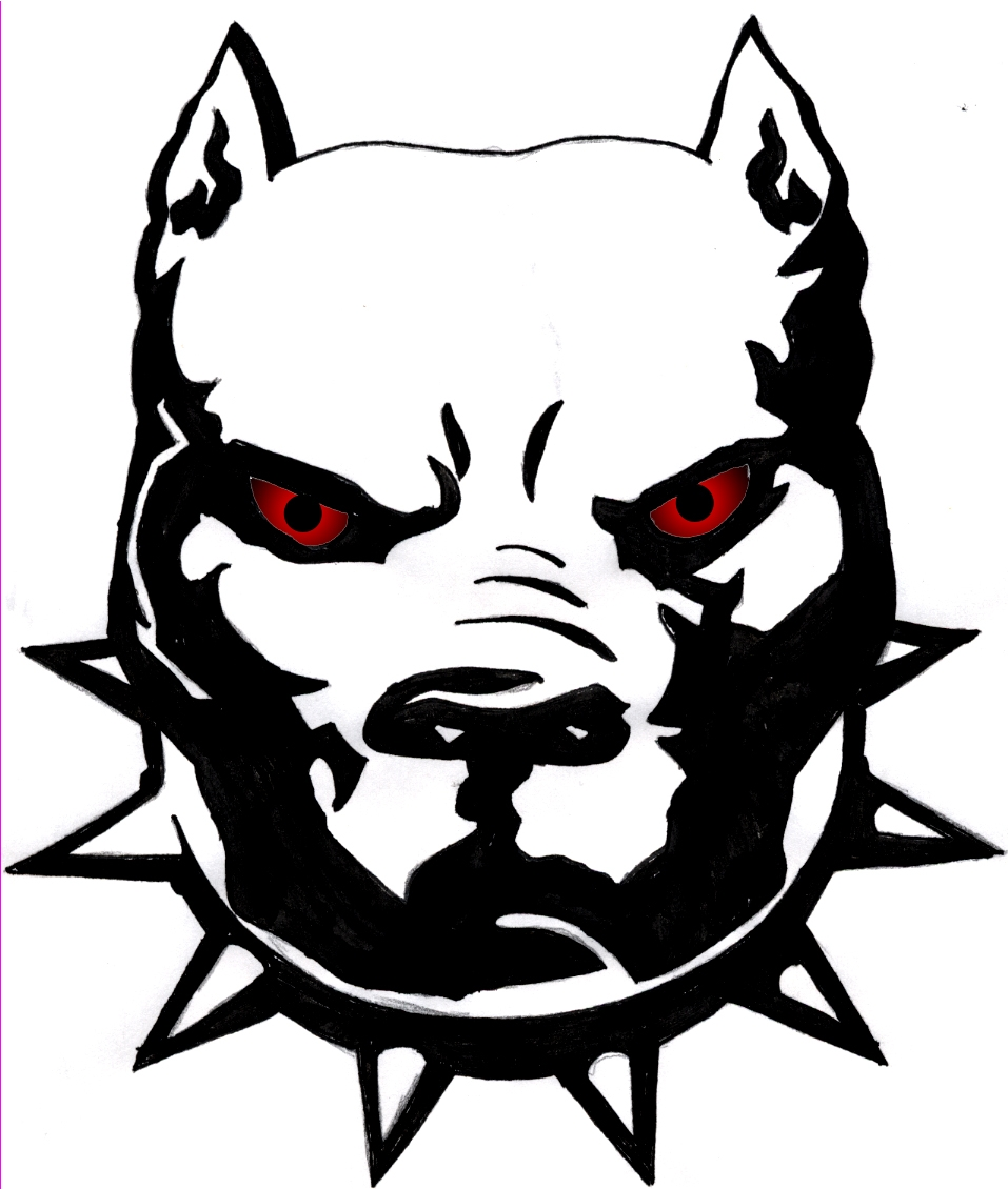 957x1130 Pitbull Clipart Vicious Dog