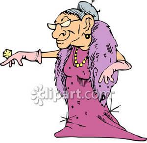 300x291 Old Woman Clip Art