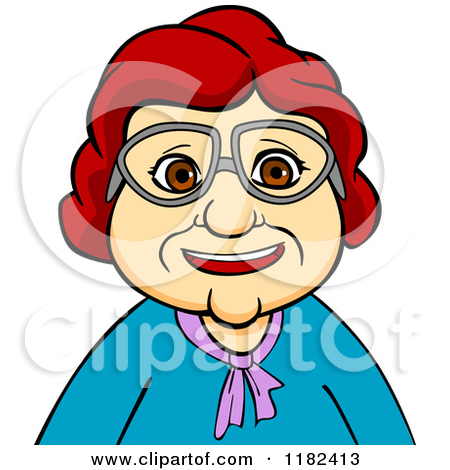 450x470 Old Woman Wearing Glasses Clipart
