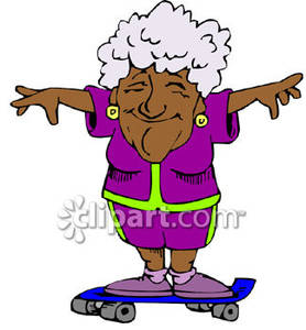 278x300 Elderly Lady Clipart