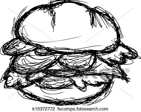 450x360 Clipart Of Grunge Burger K15372772