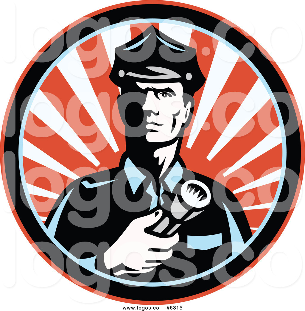 1024x1044 Royalty Free Clip Art Vector Logo Of A Police Officer Or Security