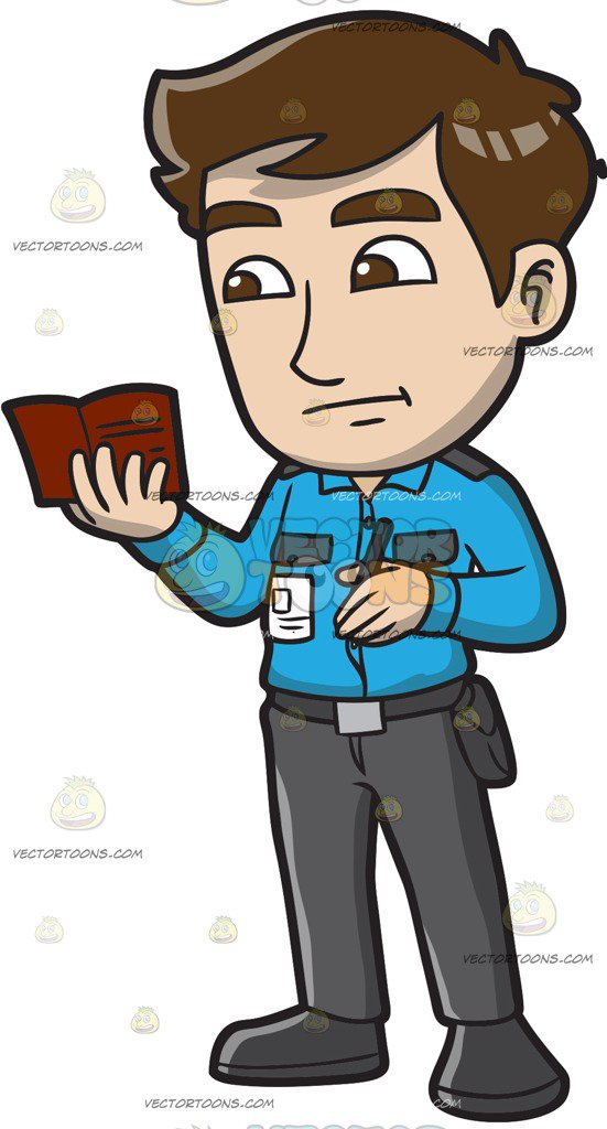 551x1024 A Male Airport Security Guard Looking At Something In A Passport
