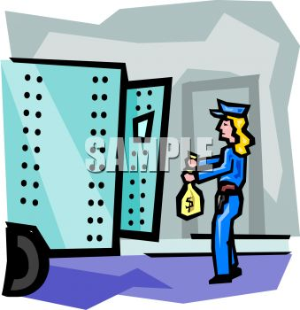 339x350 Armored Truck Guard Putting Money Into The Truck